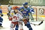Extraligové hokejové utkání Třinec - Brno