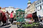 Na náměstí Svobody vyrostlo Velikonoční městečko.