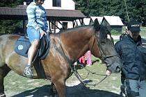O zajímavý program se na táboře postarali i policisté na koních.