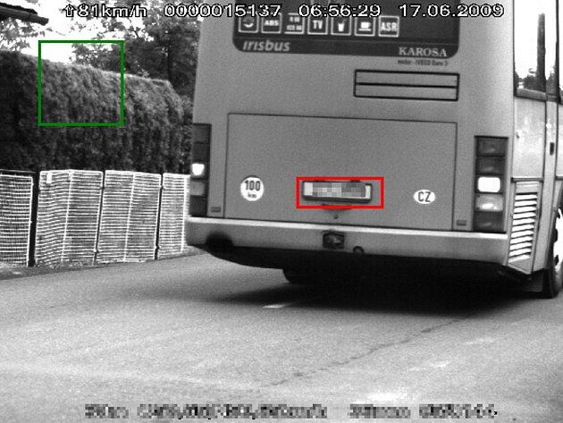 Přiložené foto je autentický záběr z policejního radaru.