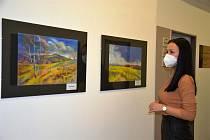 Výstava obrazů Stanislava Bendy v třinecké radniční minigalerii.