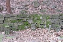 Kamenná zeď v Ostravici nalezená loni.