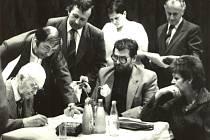 V Sedlištích se v roce 1984 (i přes zákaz) uskutečnila beseda s Franem Smějou. Konala se z iniciativy Kulturního sdružení Bezručův kraj Chlebovice. Za stolem: Fran Směja.