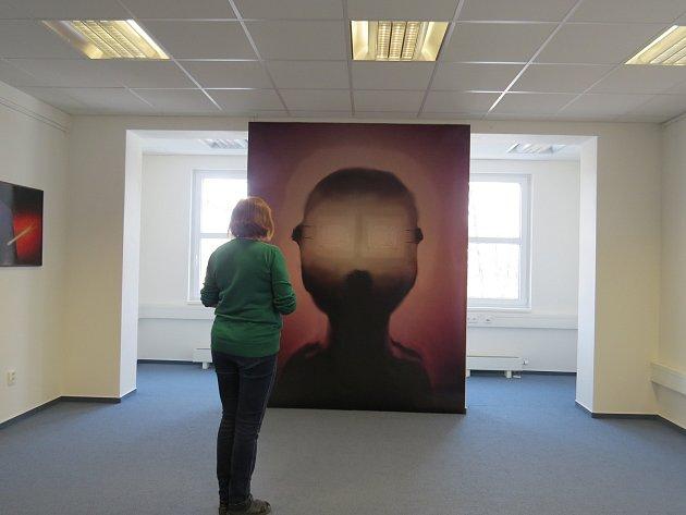 V galerijních prostorách třinecké knihovny mohou návštěvníci vidět výstavu Bronisława Liberdy nazvanou Médium PC.