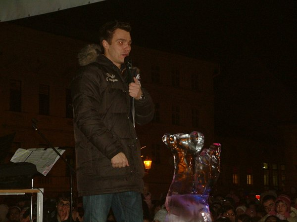 Leoš Mareš na akci ve Frýdku-Místku.