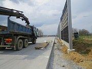 Výstavba obchvatu v třineckých Neborech v úterý 25. dubna 2017.
