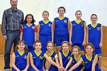 Mladým basketbalistkám BK Frýdek-Místek (U11) se v obou zápasech v Krnově dařilo. Ilustrační foto.