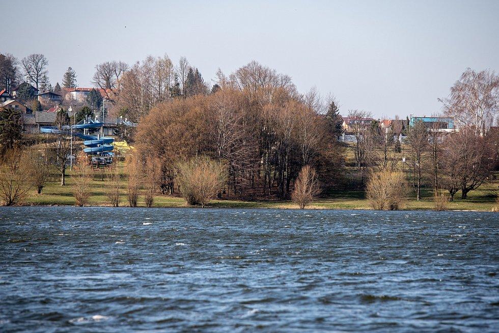 Přehrada Olešná, 24. března 2020 ve Frýdku-Místku.