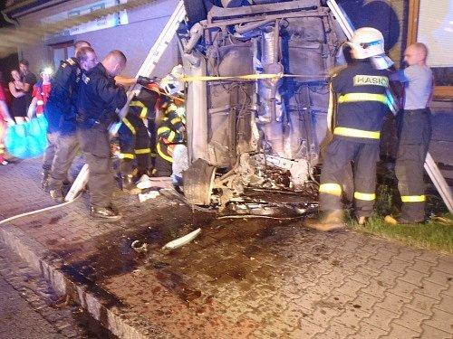 Noční nehoda ve Starém Městě