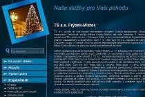 Webové stránky TS a.s. Frýdek-Místek.