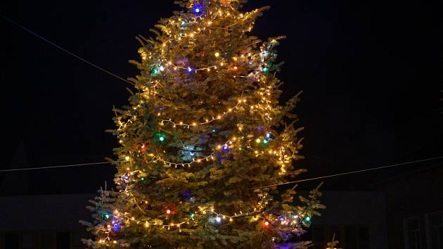 Rozsvícení vánočního stromu v Bašce.