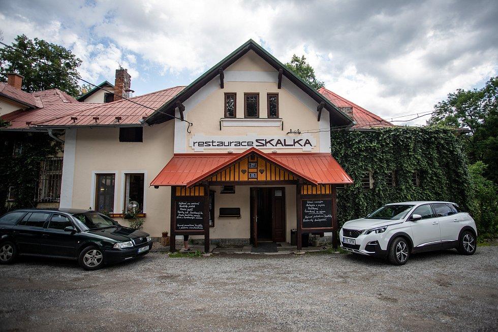 Restaurace Skalka v Kunčicích pod Ondřejníkem, 12. července 2020.