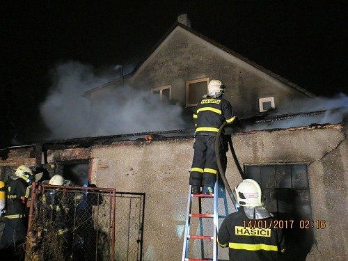 Páteční požár ve Frýdku.