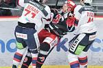 Čtvrtfinále play off hokejové extraligy - 2. zápas: HC Oceláři Třinec - HC Dynamo Pardubice.