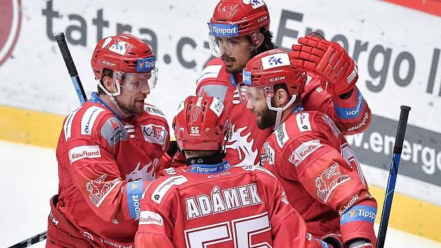 Radost hokejistů Třince. Ilustrační foto.