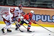 Oceláři (v bílém) porazili Pardubice 6:1.