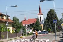 Centrum Pržna. V poklidné obci žije zhruba 1 050 obyvatel.