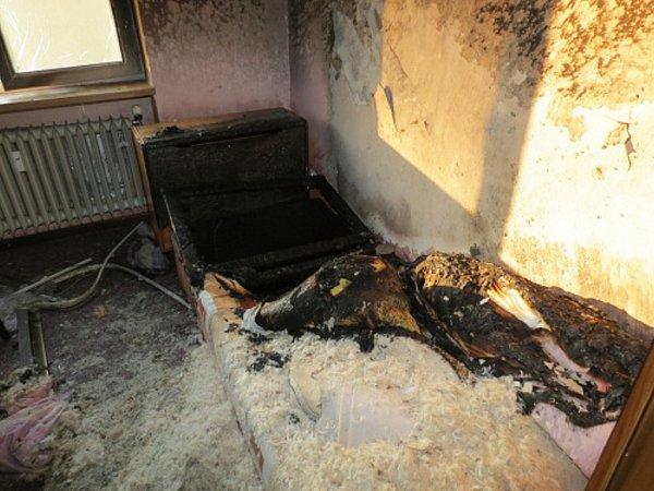 Dvě hasičské jednotky zasahovaly při požáru ve čtvrtek 9.května večer vbytě 3+1ve čtyřpatrovém domě ve Frýdku-Místku. Dva lidé byli zraněni.