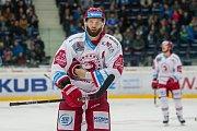 Utkání 45. kola Tipsport extraligy ledního hokeje se odehrálo 30. ledna v liberecké Home Credit areně. Utkaly se celky Bílí Tygři Liberec a HC Oceláři Třinec. Na snímku je Martin Růžička.
