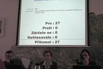 Hlasování o rozpočtu Třince. Snímek je z prosince 2009. Kdy budou zastupitelé hlasovat o příjmech a výdajích pro rok 2011, není zatím jasné.