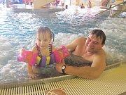 Oslavy výročí krytém aquaparku Olešná. Narozeninový program trvá až do nedělního večera.