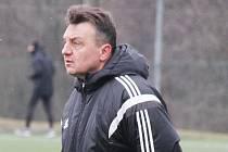 Trenér Třince Jiří Neček.