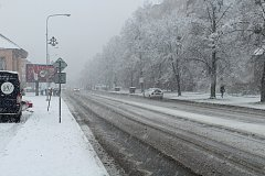 Vydatné sněžení zasáhlo i Frýdek-Místek.