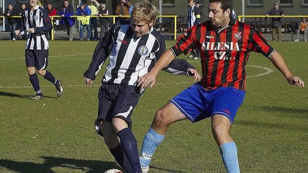 Na góly útočníka Martina Valigůry (vpravo) se již v Brušperku spoléhat nemohou.