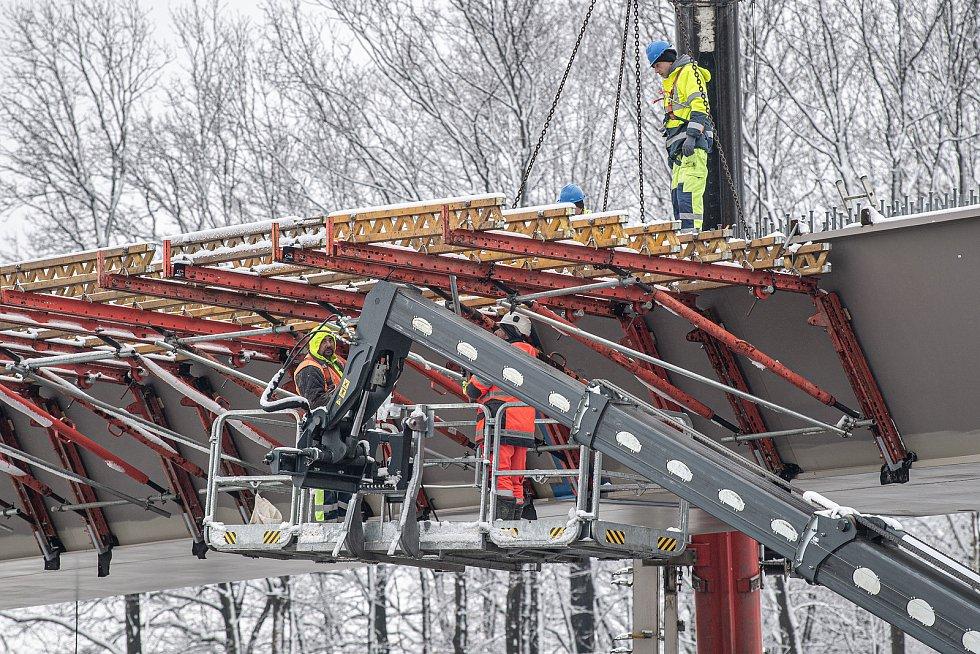 U Dobré na Frýdecko-Místecku pokračovala 13. dubna 2021 výstavba obchvatu města Frýdku-Místku (II. etapa).