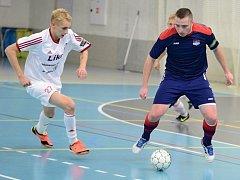 Hodonínští futsalisté přivezli z Třince přesvědčivou výhru 6:2. Mezi střelce se ve Slezsku zaspsal i slovenský kanonýr Marek Belaník (vpravo).