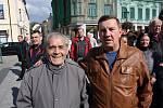 Karviňané přišli pozdravit prezidenta Miloše Zemana.