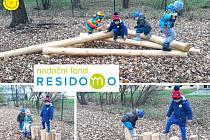Nové přírodní prvky na zahradě Sluníčka podporují volnou hru dětí a respekt k přírodě