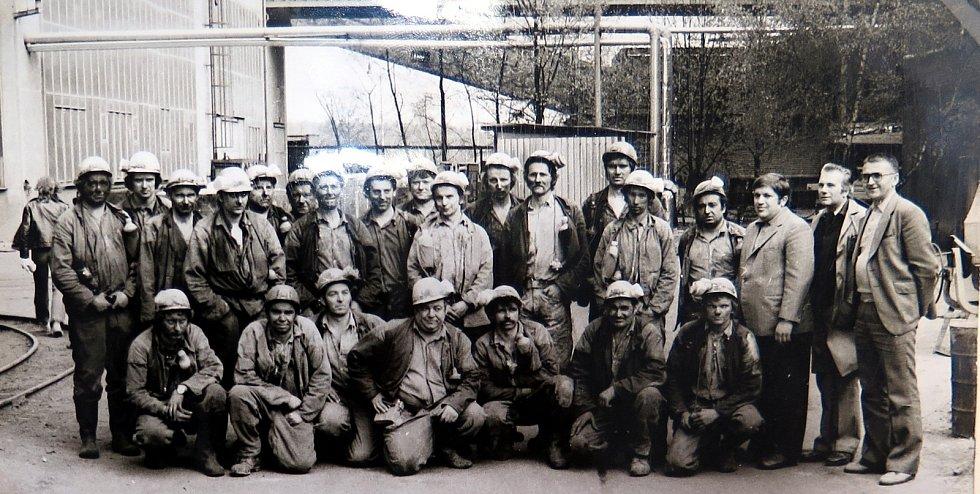 Osádka předáka Richtra z roku 1982.