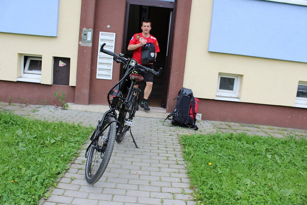 Záchranář a hasič ze Stonavy Marek Balicki.