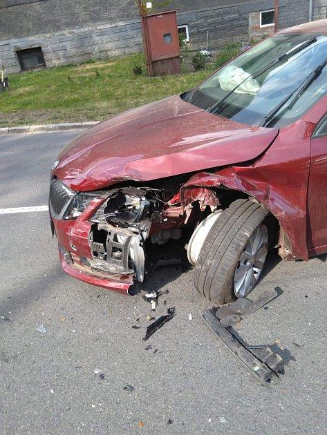 Nabourané auto státní zástupkyně.