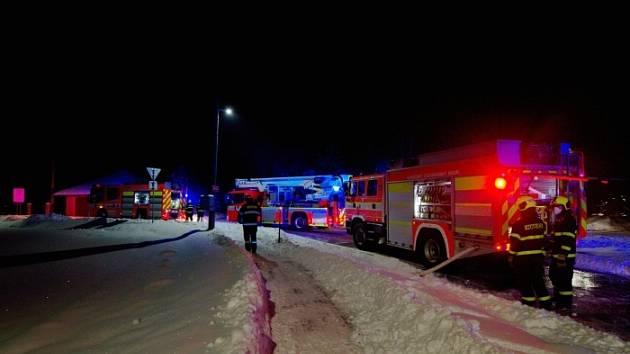 Požár v Petřvaldu, 17. ledna 2021.
