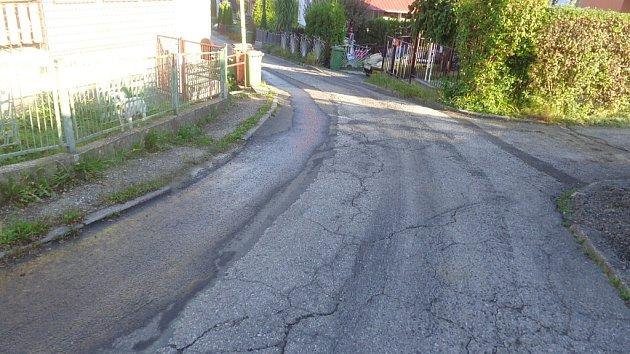 Původní stav Svažné ulice.