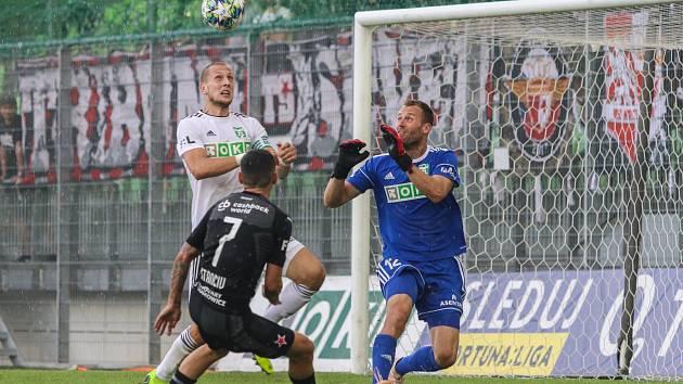 Karvinští fotbalisté obrali mistrovskou Slavii a už nejsou bez bodů.