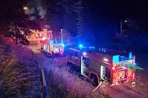 Noční požár rodinného domu v Havířově.
