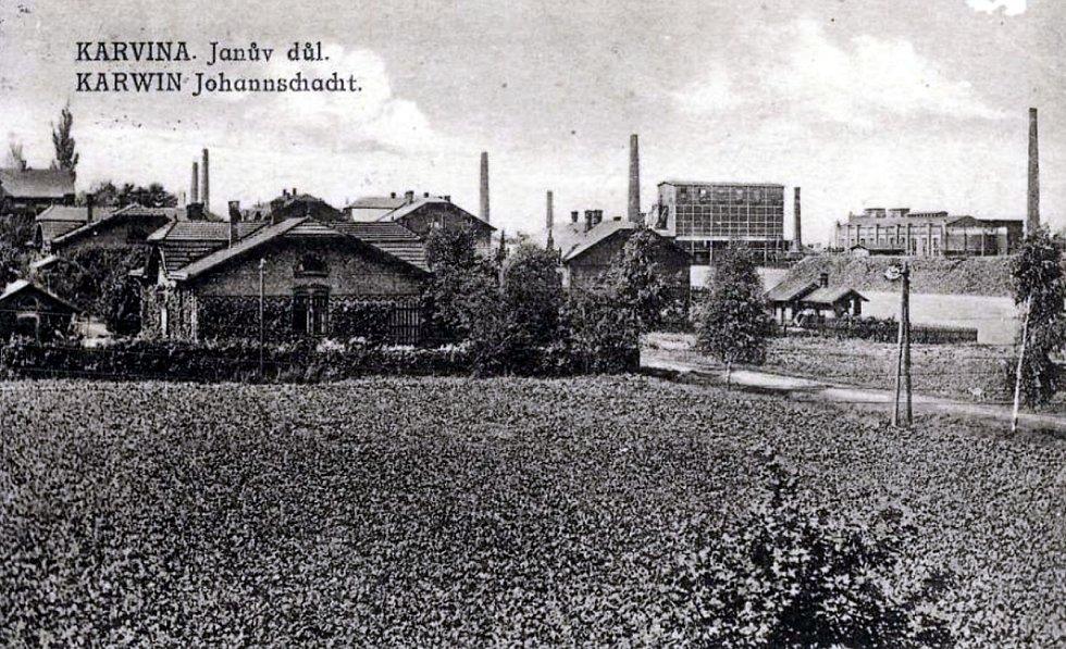 Karviná, Důl ČSA, jáma Jan Karel rok 1913.