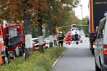 Tragická srážka osobního auta s kamionem.