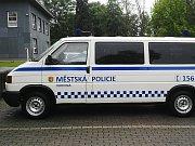 Převozová sanitka Městské policie Karviná.
