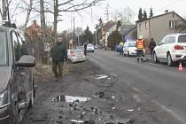 Nehoda v havířovské Frýštátské ulici.