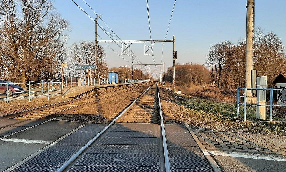 Dolní Lutyně. vlaková zastávka