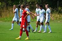 Fotbalisté MFK Karviná vyhráli přípravné utkání nad celkem Zaglebie Sosnowiec 3:1 v rámci soustředění v Polsku (7. 7. 2021).