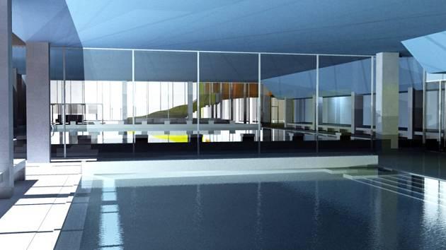 Vizualizace budoucí podoby krytého bazénu v Karviné.