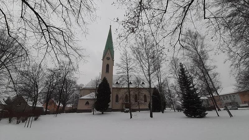 Katolický kostel v Albrechticích.