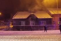 Domek, kde požár ohrozil rodinu.