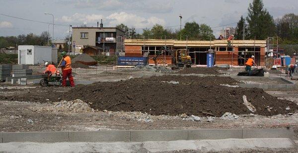 Stavba velkého dopravního hřiště vHavířově.