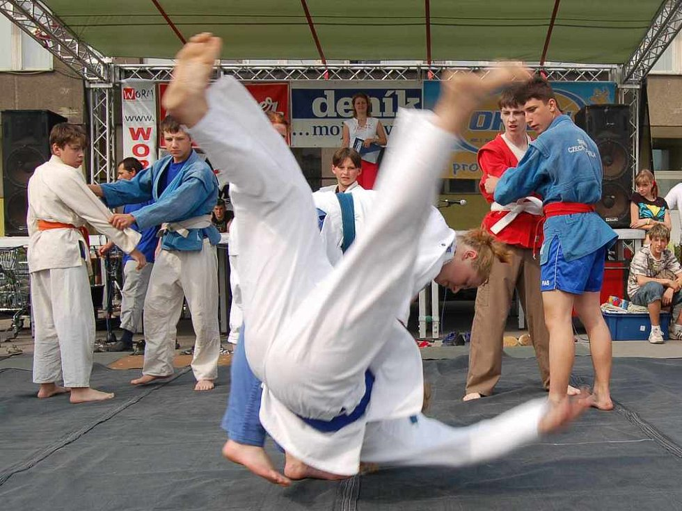 Oddíl judo předvedl divákům ukázku bojového umění. Nutno podotknout, že diváci mohli vidět opravdu pestrou přehlídku pádů.